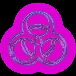 Glowing Purple Neon Icons Signs Icons Etc Icon Biohazard Purple