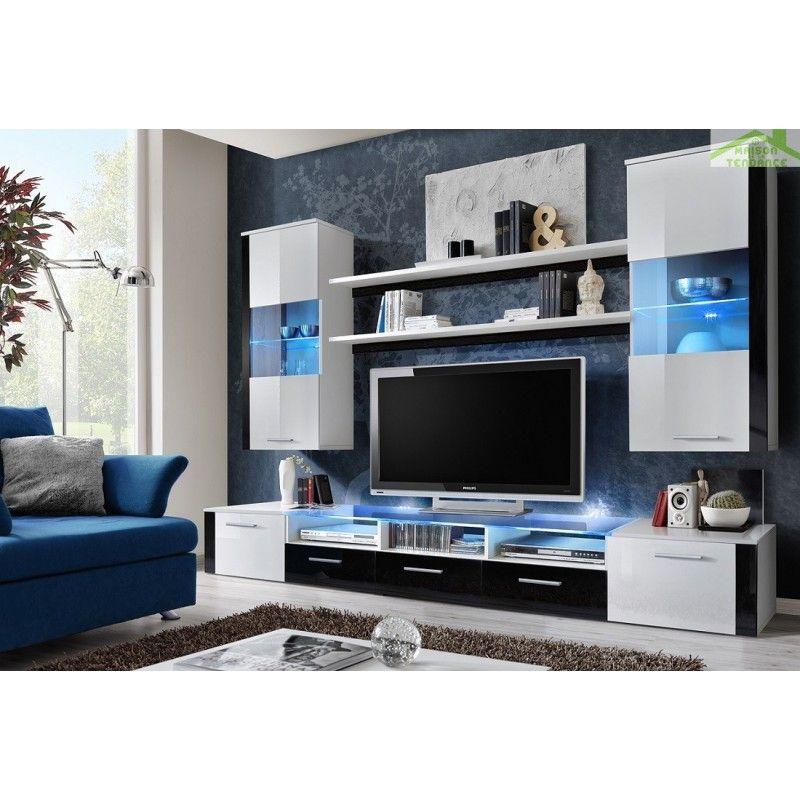 acheter populaire 52744 28e3f impressionnant meuble tv avec led | Décoration française ...