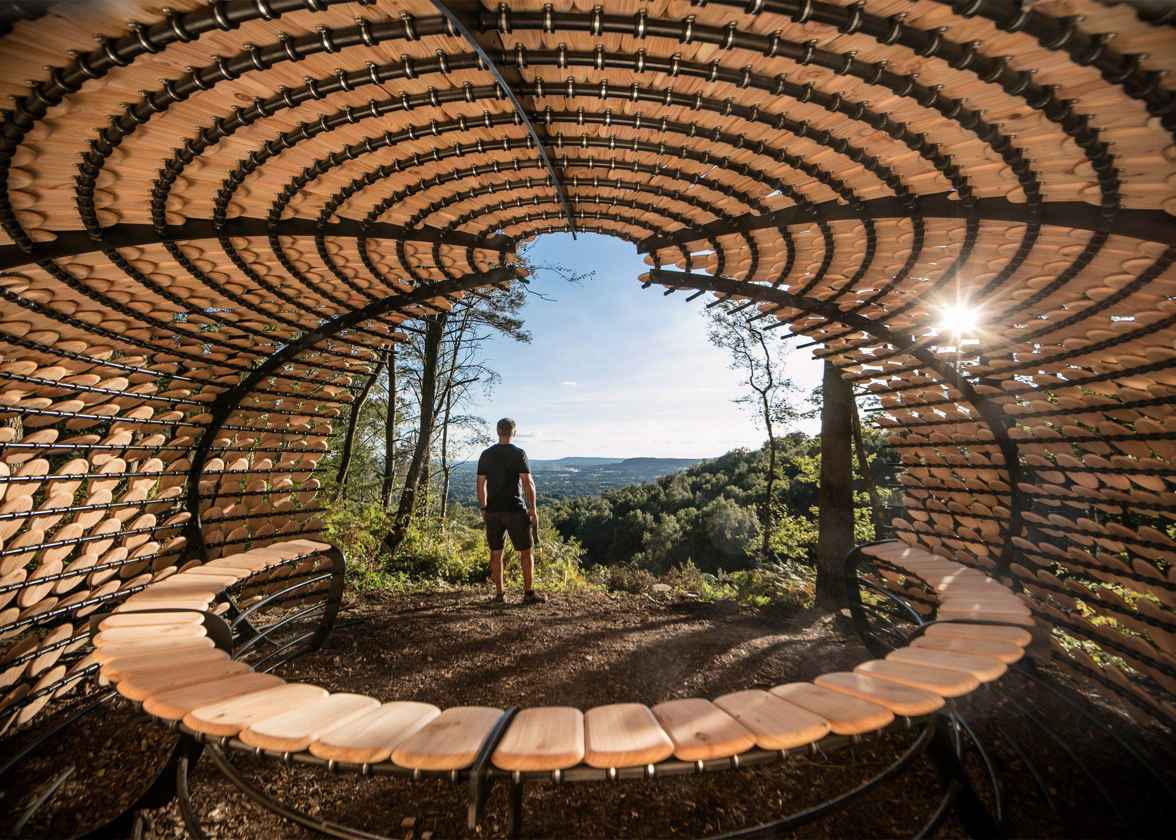 Giles Miller designs shingle-covered pavilion for English ...