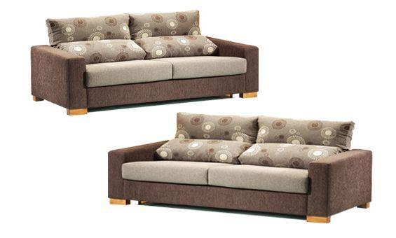 Sofas dos y tres plazas. Sofas. Sofas tapizados en tela.Sofas de colores combinados