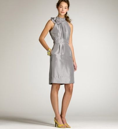 Silver Grey Dress for Wedding
