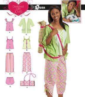 Simplicity Patterns Us1951Aa-Simplicity Girl'S Top, Pants Or Shorts, Kimono, And Pillow C-7-8-10-12-14