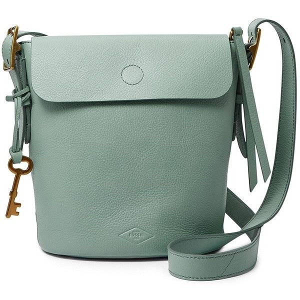 Fossil Haven Small Bucket Zb6729116 Color: Seaglass (275 CAD) ❤ liked on Polyvore featuring bags, handbags, shoulder bags, fossil handbags, green shoulder bag, bucket bag, bucket handbag and fossil purses