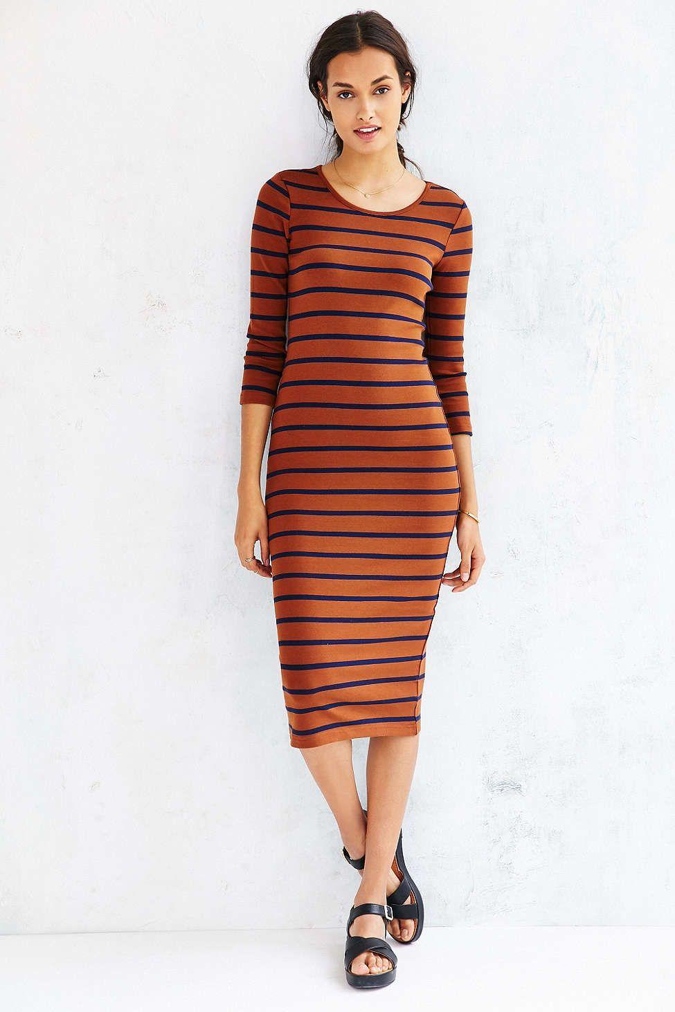 BDG Striped Knit Midi Dress #UrbanOutfitters