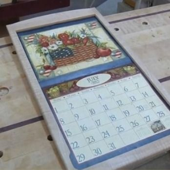 calendar frame woodworking plan by the wood whisperer