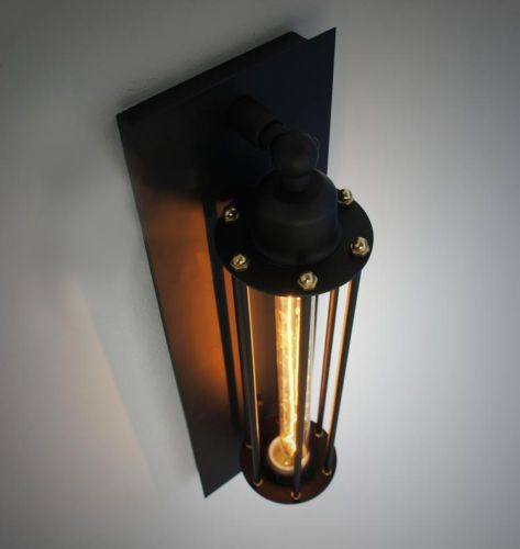 New Rare Vintage Iron Cage Wall Mount Industrial Edison Lamp Ceiling Retro Light