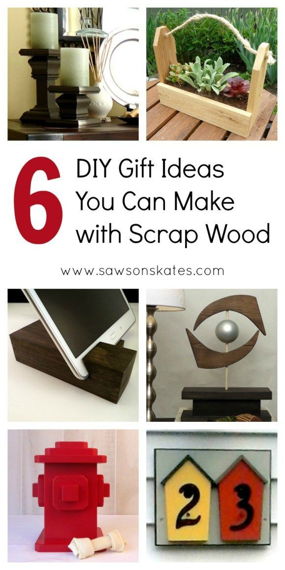 6 Diy Gift Ideas Made With Scrap Wood Diy Furniture Projects