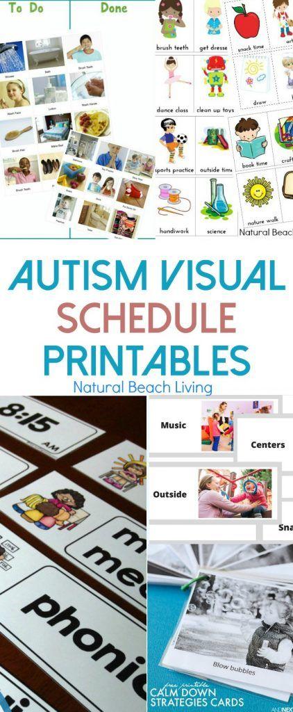 visual schedule template free