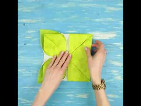 Ideas en 5 minutos c mo doblar una servilleta en flor de for Ideas en cinco minutos