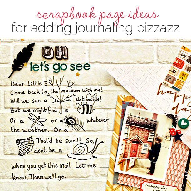 REMPLACEMENT DE MOTS PAR DES IMAGES - Scrapbooking Ideas for Adding Pizzazz to Your Journaling | Get It Scrapped