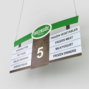 Aisle Signs Store Signage P1539 Greenleaf Store Signage Aisle Signs Your Copy Included Store Signage Signage Modern Store