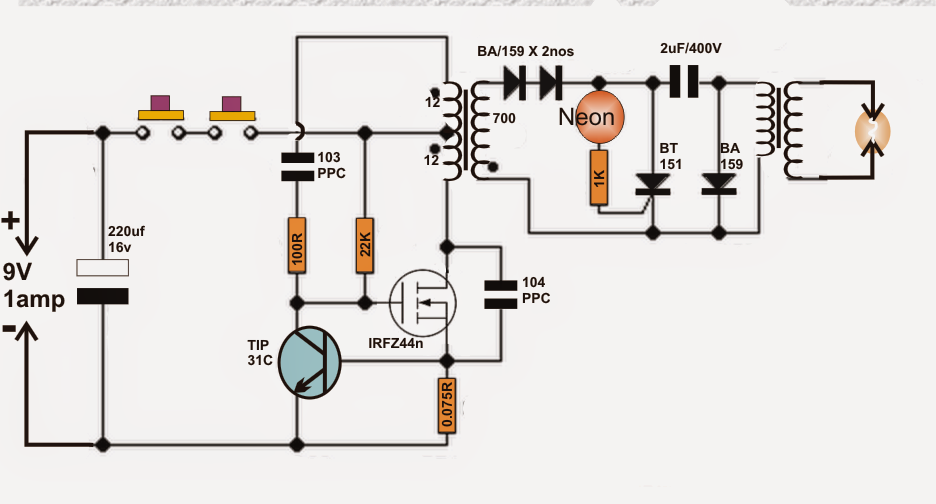 diy taser gun circuit electronic circuit projects
