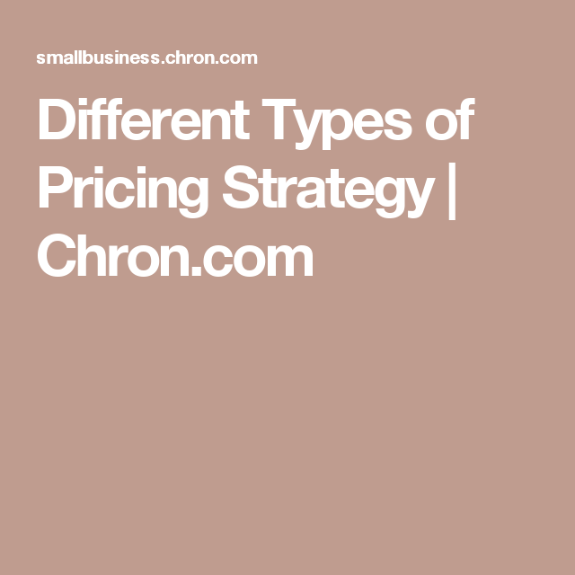 Different Types of Pricing Strategy | EDSS321 Group 8