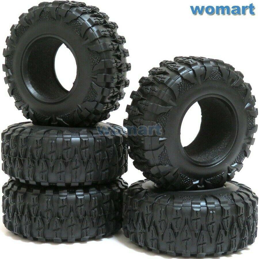 4pcs New RC Rock Crawler 2.2/'/' Tires Tyres W// Foam For Beadlock 2.2/'/' Rims Wheel