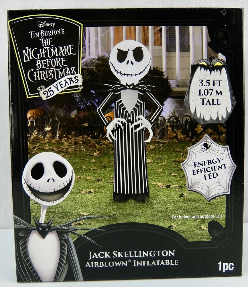 The Nightmare Before Christmas Jack Skellington Led Inflatable