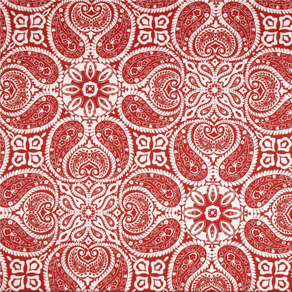 Tibi Cayenne Red Paisley Cotton Print Drapery Fabric by Premium ...