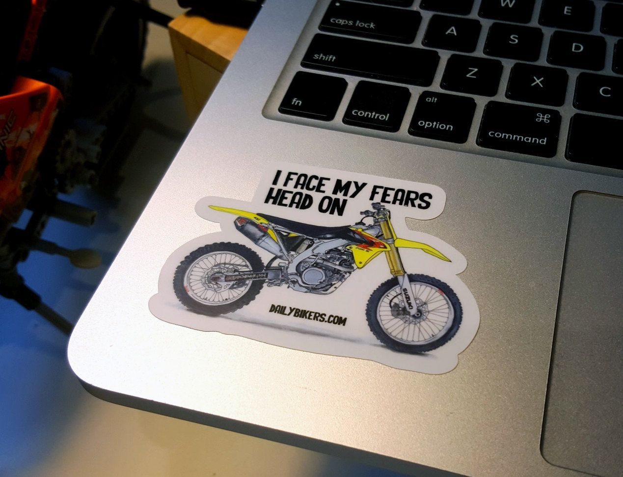 Motorcycle Stickers Suzuki Enduro Motorcycle Drawing Printed On - Suzuki motorcycles stickers