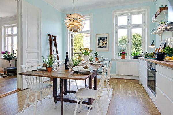 coastal kitchen design ideas love the handle free cabinetry again the pale blue walls - Coastal Kitchen Ideas
