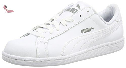 Smash Leather, Baskets Basses Mixte Adulte, Blanc (White-Amazon Green 22), 44.5 EUPuma