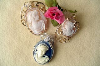 Fine Handmade Designer Jewelry with gem stones and beads: Handmade Cameo Pendant - Agate, Shell - gold or silver