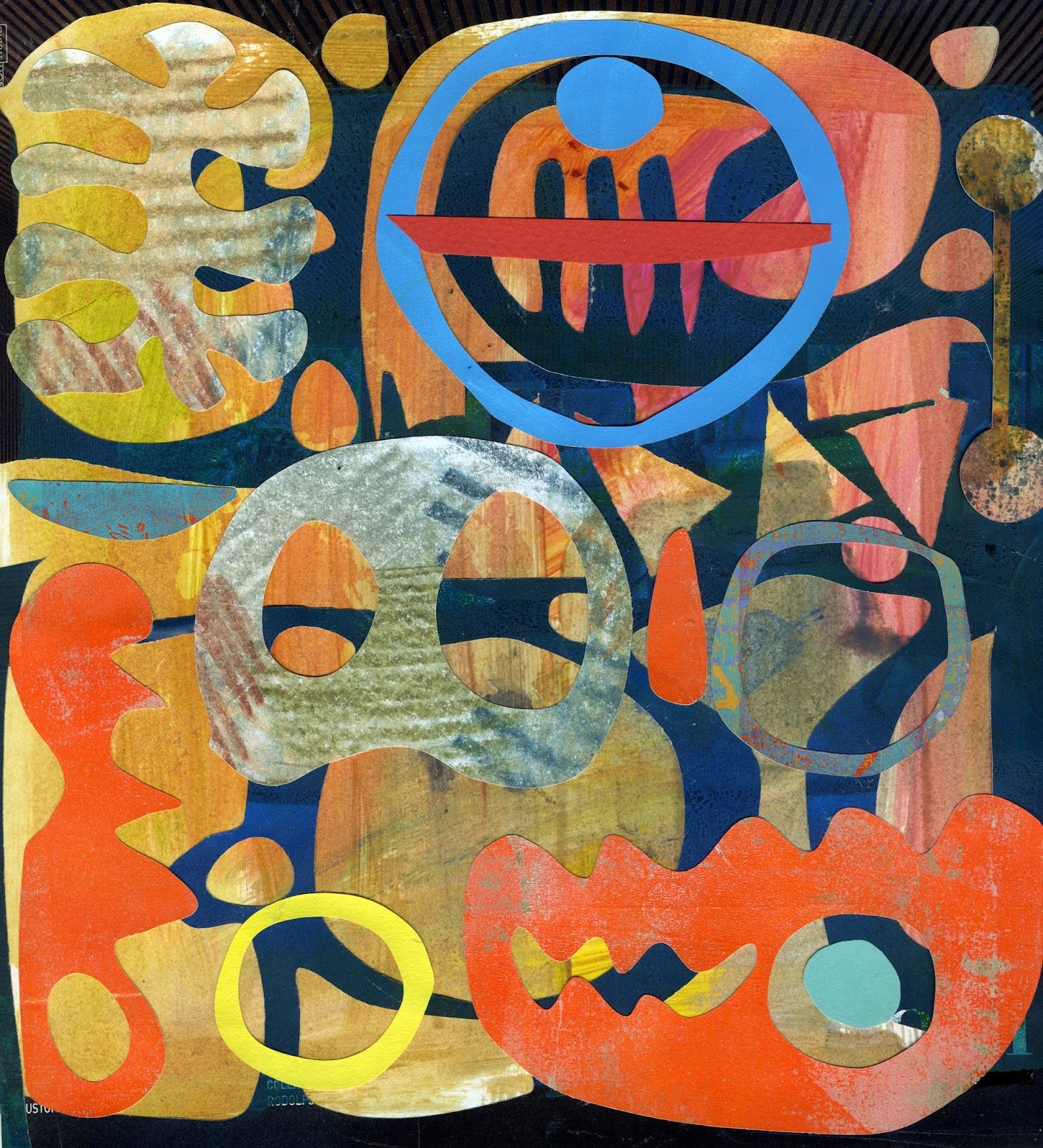 Michèle Brown Artist - The Old Cells Studio: Today's Collage