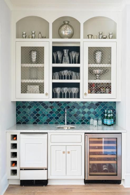Blue Scale Pattern Backsplash Tiles | плитка | Pinterest | Display ...