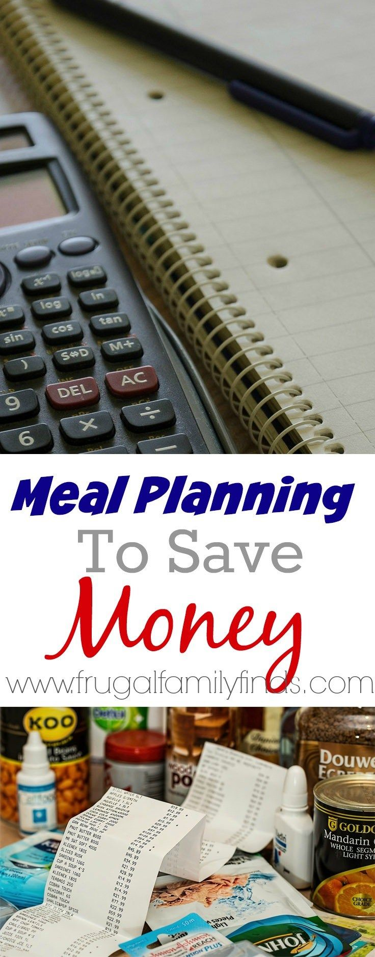 How to set yourself up for success to save money with meal planning. Printables and sample meal plan | www.frugalfamilyfinds.com