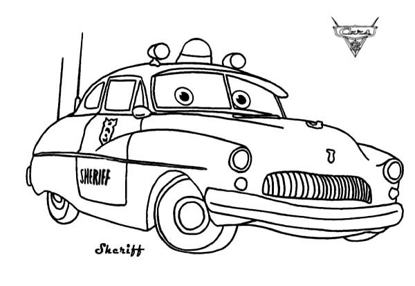 Cars Sheriff from Disney Cars Coloring
