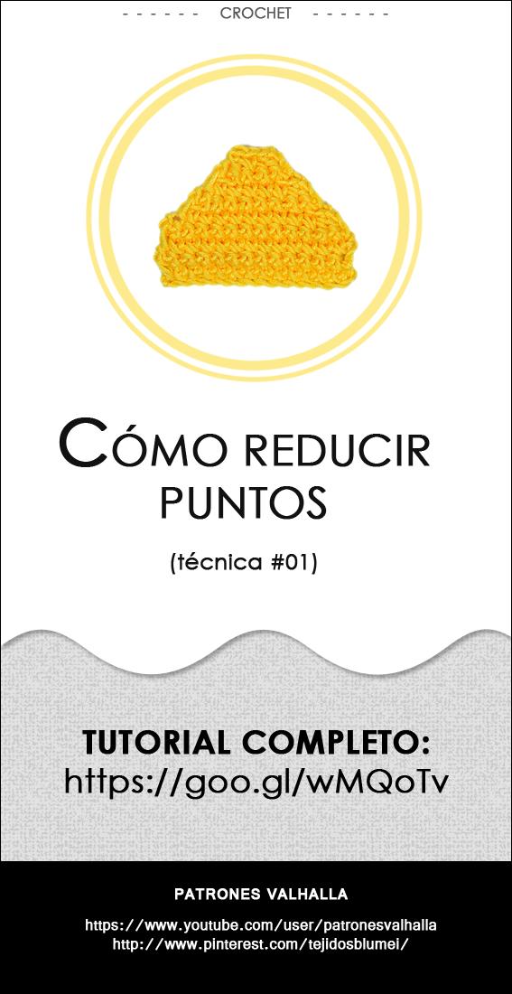 Cómo reducir puntos en crochet (técnica #01) | PATRONES VALHALLA ...