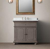 St. James Single Vanity Sink - color antique graphite