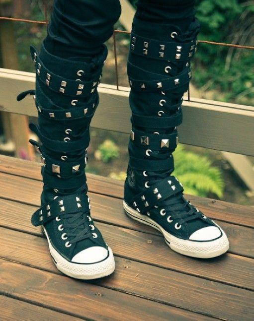 knee high converse sneaker boots