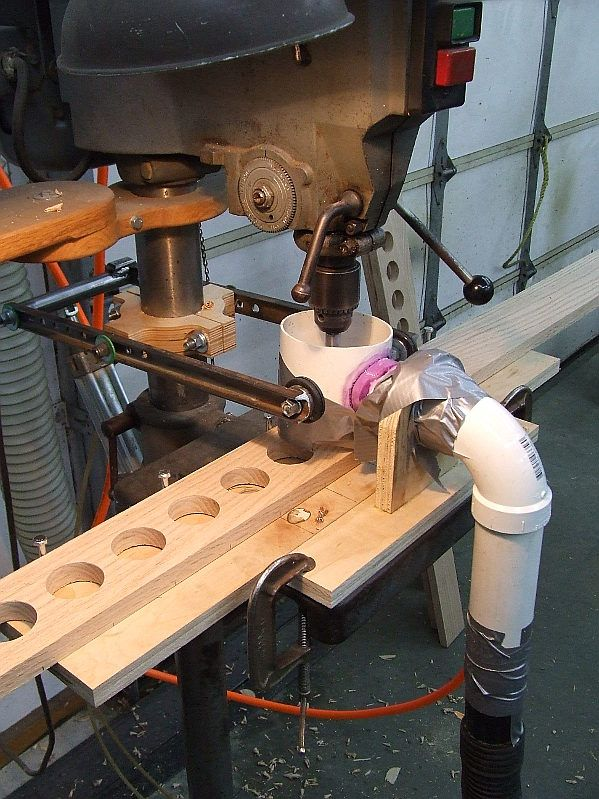 Woodnet Forums Production Drilling Large Holes With Images Dust Collection Dust Collection System Woodworking Gadgets