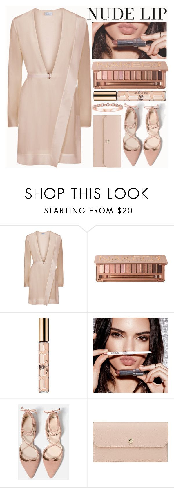 """""""The Perfect Nude Lip"""" by shoaleh-nia ❤ liked on Polyvore featuring beauty, Wildfox and Valextra"""
