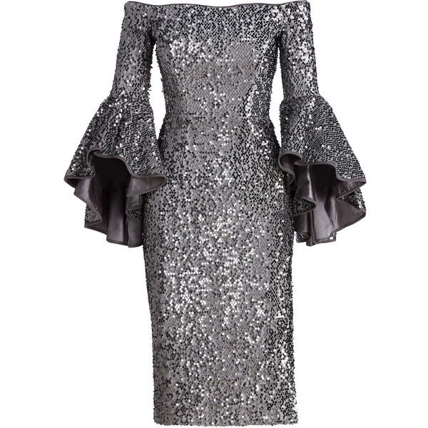 Milly Off-the-Shoulder Sequined Cocktail Dress (9.126.000 IDR ...