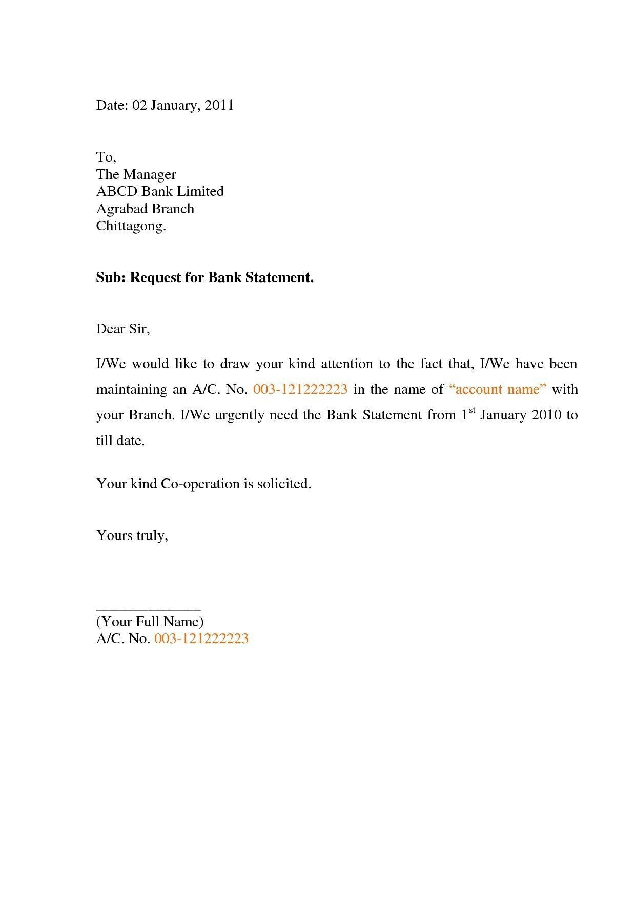 Relieving Letter Format In Ms Word New Request Letter For Bank