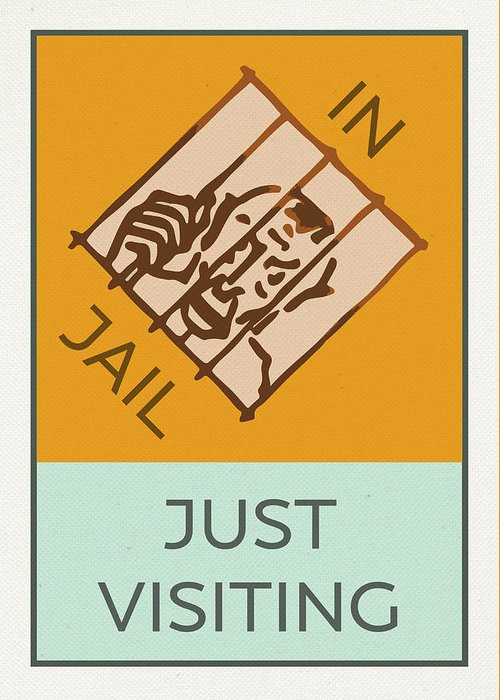 In Jail or Just Visiting Vintage Monopoly Board Game Theme Card Greeting Card for Sale by Design Turnpike