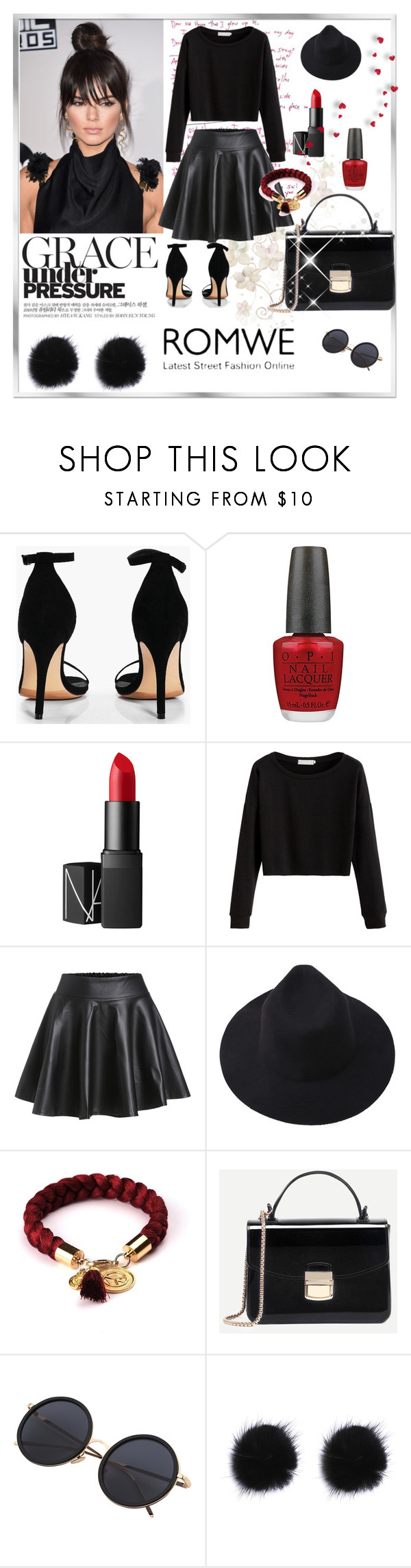 """""""Untitled #1"""" by bubamara1985 ❤ liked on Polyvore featuring Boohoo, OPI and NARS Cosmetics"""