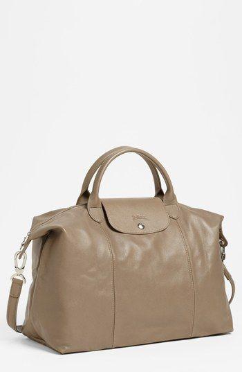 Longchamp 'Le Pliage Cuir' Leather Handbag | Nordstrom | Leather ...