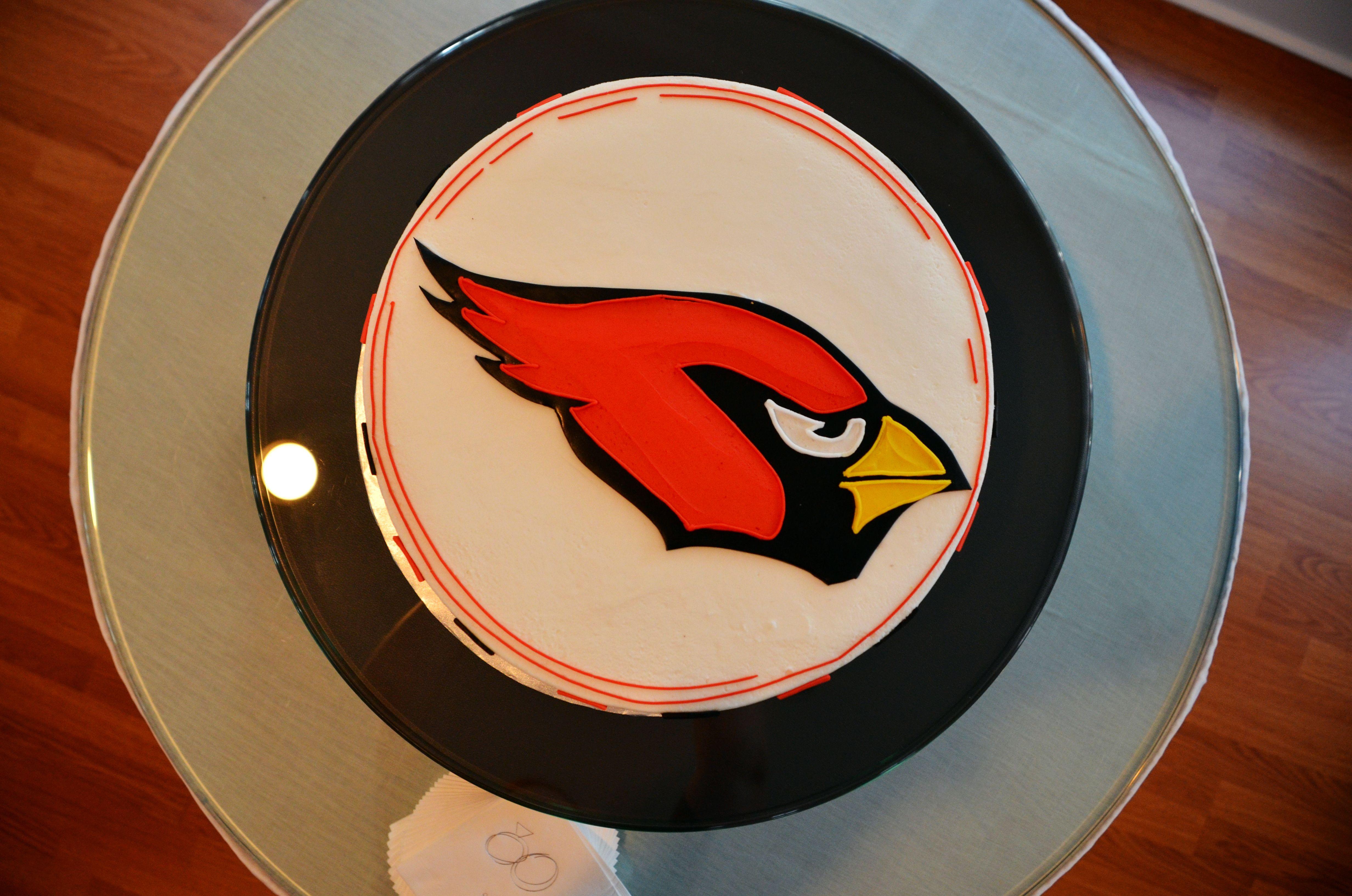 Arizona cardinals grooms cake our wedding cardinals