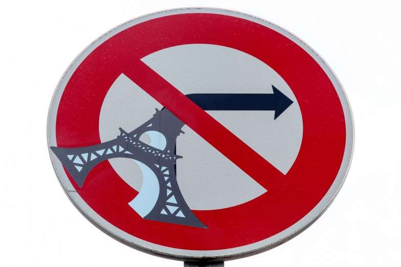 Funny road sign in Paris, France - ricochet64/Getty Images