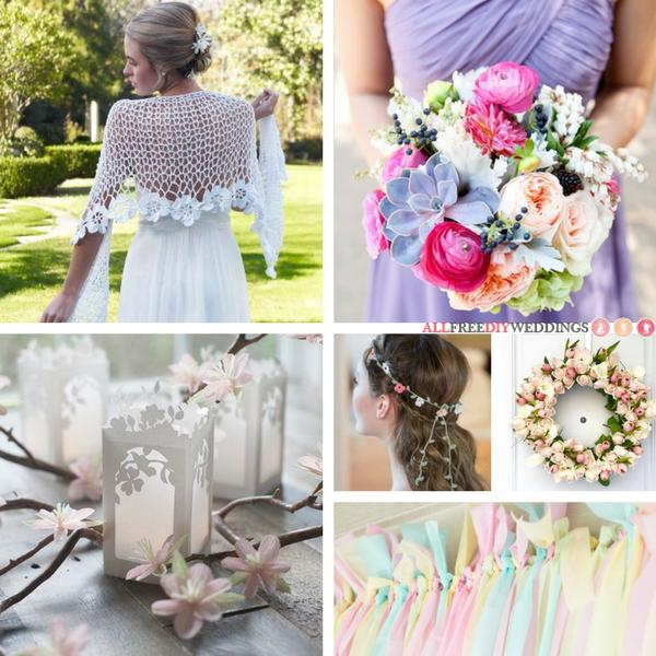 35 Pastel Wedding Crafts For Your Diy Spring Wedding Diy Spring