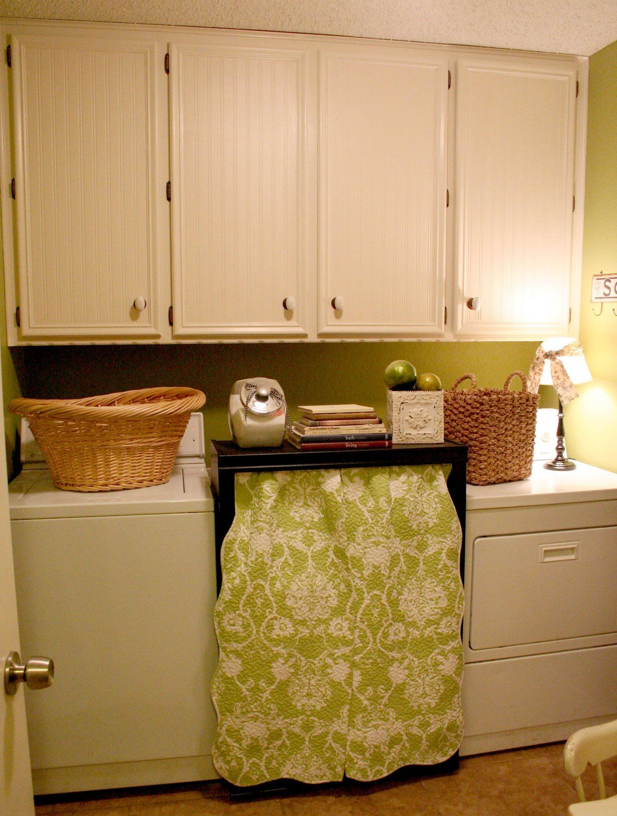 Beadboard wallpaper for kitchen cabinets