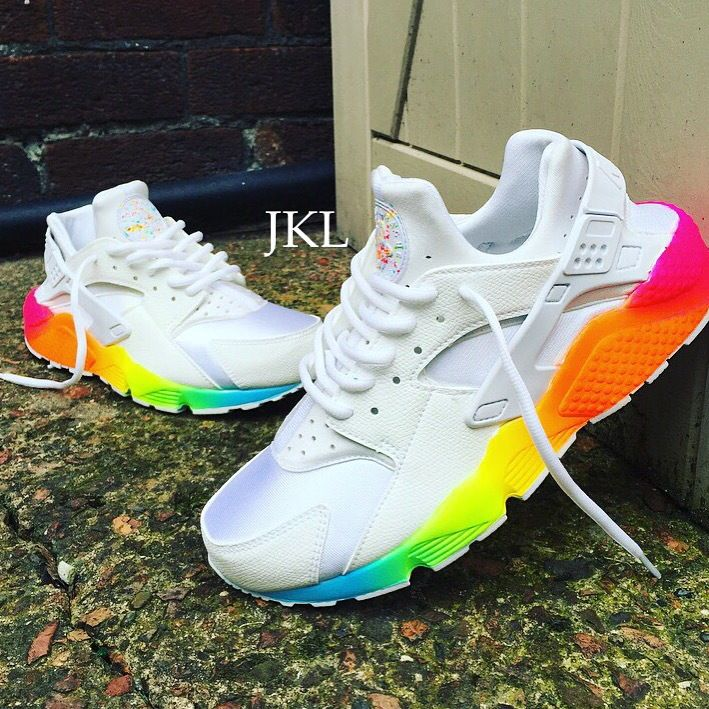 online retailer 68c93 4777d Image of Rainbow Sole Nike Huarache | nikes in 2019 ...