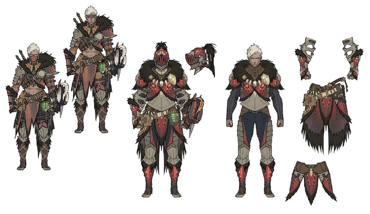 Male Anjanath Armor Artwork From Monster Hunter World Art