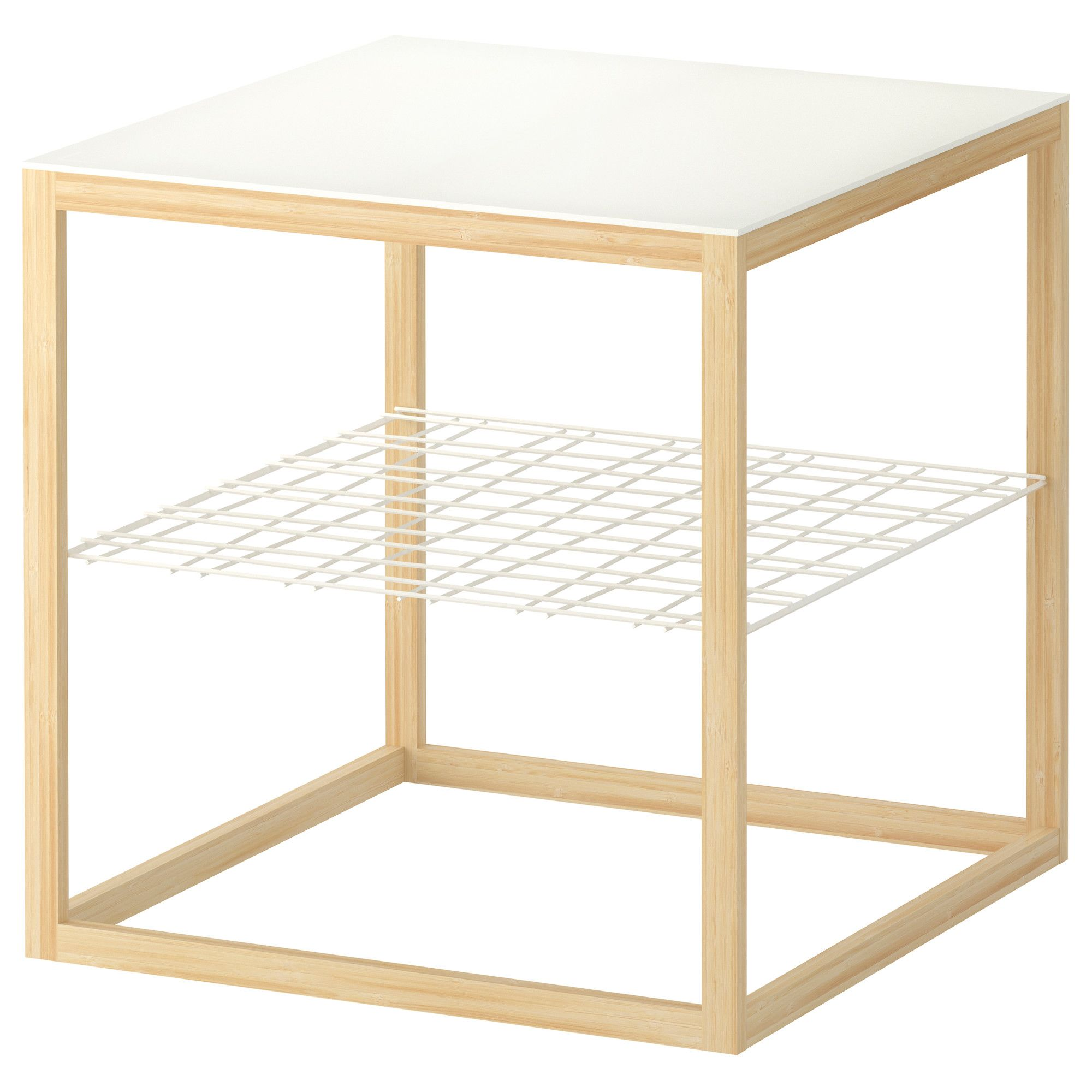 ikea ps 2012 side table white bamboo article number home decor ikea