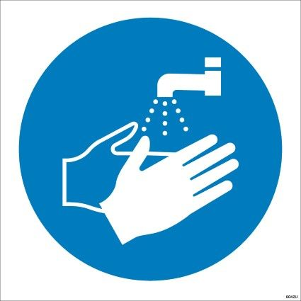 Symbol Of Washing Your Hands Sign Product Code 6042 This Mandatory