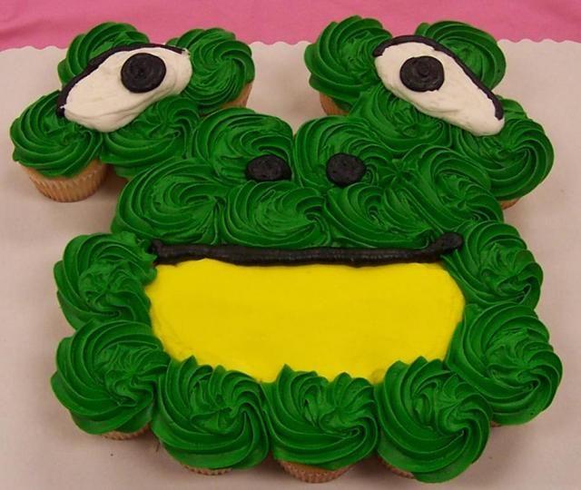 Buttercream Frog Smash Cake Cupcakes With Non Edible Picks