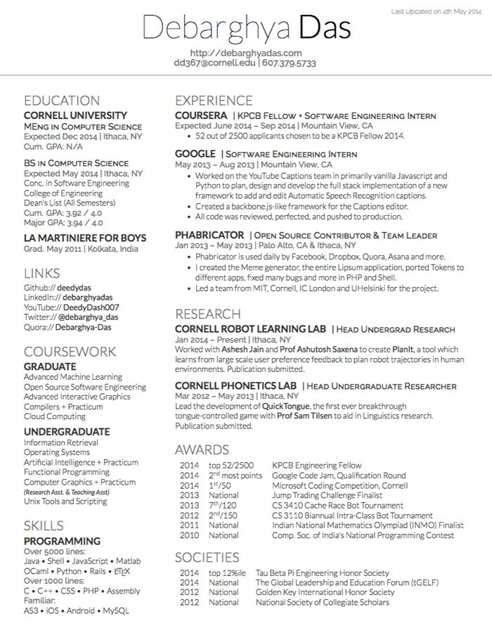 Best Resume Templates Github Resume Examples