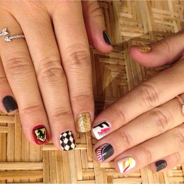 Formula 1 nail art