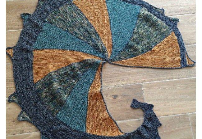 Châle dragon tricot et stitch
